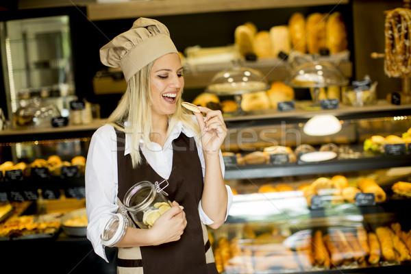 Постоянный хлебобулочные банку Печенье продовольствие Сток-фото © boggy