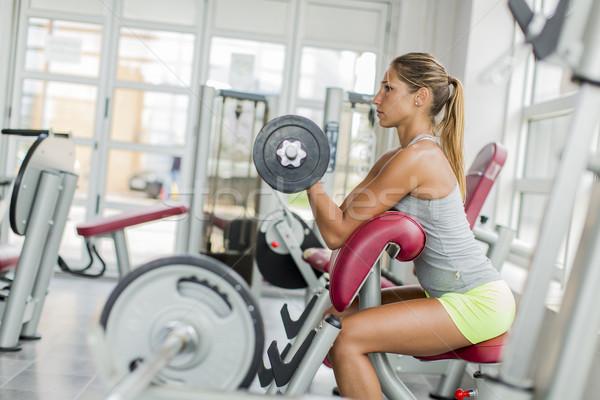 若い女性 訓練 ジム 女性 少女 スポーツ ストックフォト © boggy