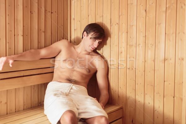 Genç rahatlatıcı sauna vücut sağlık güzellik Stok fotoğraf © boggy