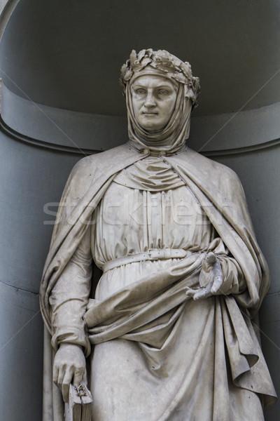 Statue of Giovanni Boccaccio in Florence Stock photo © boggy