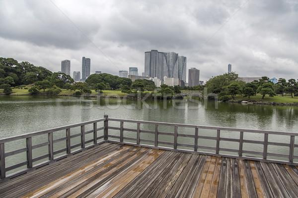 Chá casa Tóquio Japão lago água Foto stock © boggy