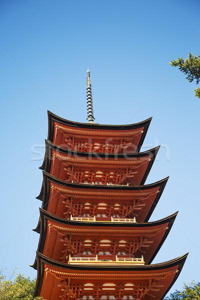 Santuario isola Giappone dettaglio rosso culto Foto d'archivio © boggy