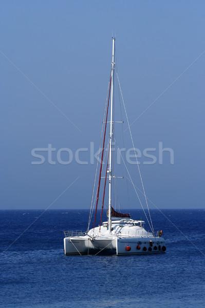 Catamarán agua mar vela vela viaje Foto stock © boggy