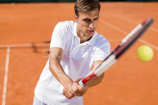 Giovane giocare tennis estate giovani formazione Foto d'archivio © boggy