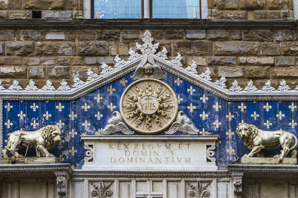 Detail of Palazzo Vecchio in Florence Stock photo © boggy