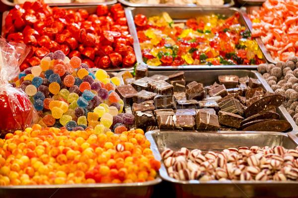 Süß Süßigkeiten Detail farbenreich Essen Stock foto © boggy