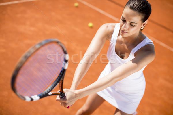 играет теннис глина здоровья спортивных Сток-фото © boggy