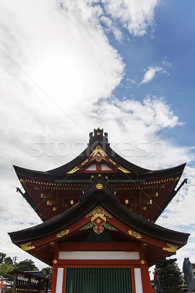 Kyoto Japonya detay Bina kırmızı Stok fotoğraf © boggy