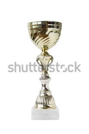 Trofeo aislado blanco vista brillante fútbol Foto stock © boggy