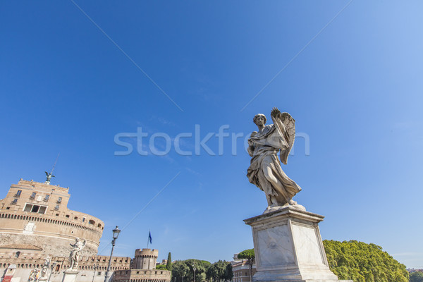 Angel statue at Sant Angelo Bridge in Rome Stock photo © boggy