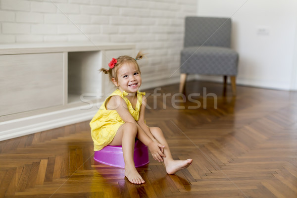 Little girl on the potty Stock photo © boggy