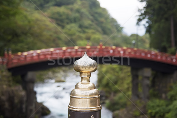 Shinkyo wooden bridge at Futarasan shrine in Nikko, Japan Stock photo © boggy