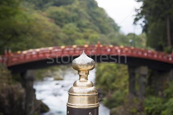 Legno ponte santuario Giappone view acqua Foto d'archivio © boggy