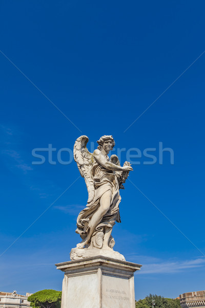 Sculpture pont Rome baroque ange Italie Photo stock © boggy