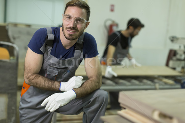 Male workers  in a factory Stock photo © boggy
