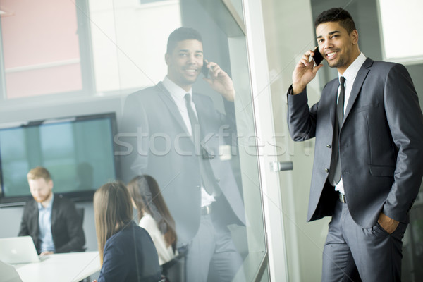 Business team working together in modern office Stock photo © boggy