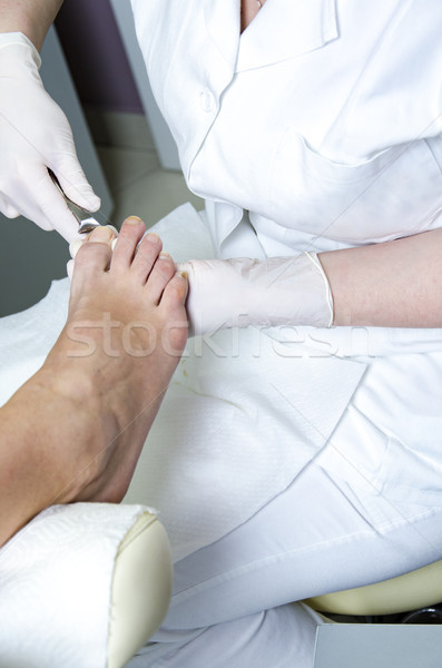 Pedicure treatment Stock photo © boggy