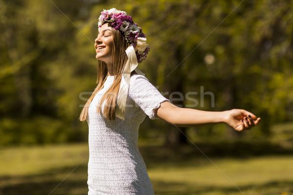 Fiori capelli sereno primavera giorno Foto d'archivio © boggy