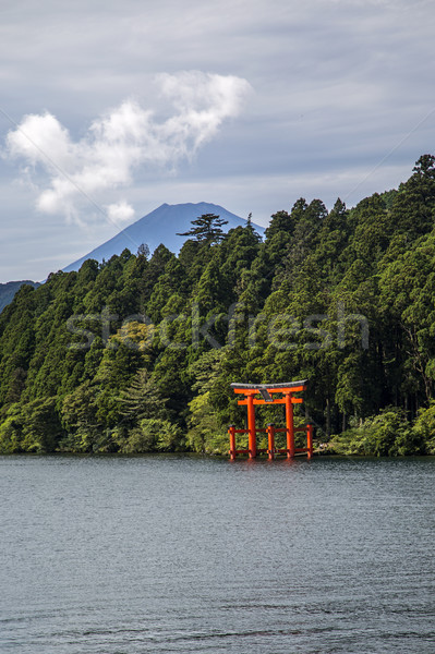 Hakone, lake Ashi Stock photo © boggy