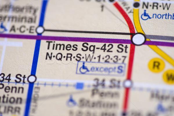 ニューヨーク市 地図 クローズアップ 詳細 背景 都市 ストックフォト © boggy