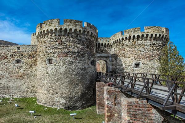 Forteresse détail bâtiment architecture Europe tour Photo stock © boggy