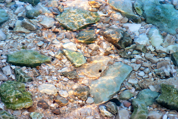 Stones in sea water Stock photo © boggy