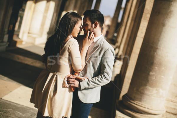 любящий пару Рим Италия девушки человека Сток-фото © boggy