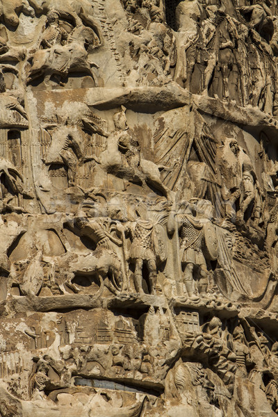 Column of Marcus Aurelius in Rome Stock photo © boggy