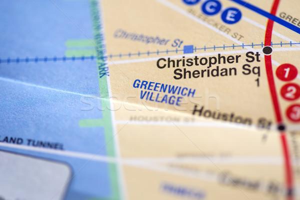 Nueva York mapa primer plano detalle fondo urbanas Foto stock © boggy