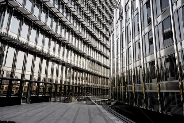 Modern bina görmek iş gökyüzü Bina şehir Stok fotoğraf © boggy