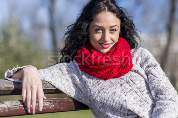 Young woman in the park Stock photo © boggy