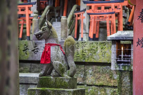 Santuario kyoto Giappone Fox statua culto Foto d'archivio © boggy