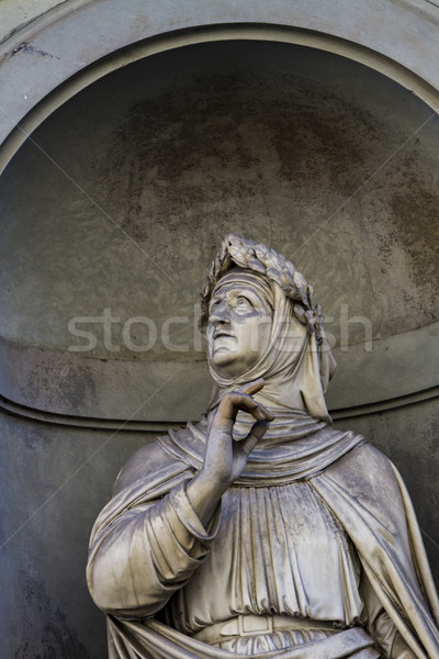Francesco Petrarca monument in Florence Stock photo © boggy
