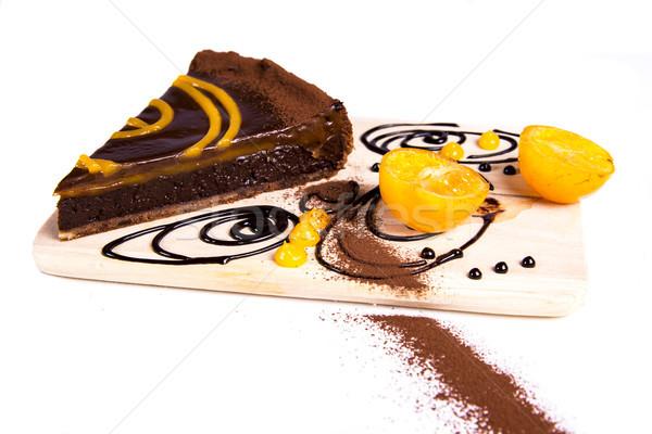 Choco tart Stock photo © boggy