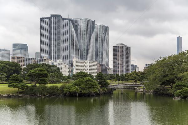 Jardins Tóquio Japão pormenor cidade natureza Foto stock © boggy