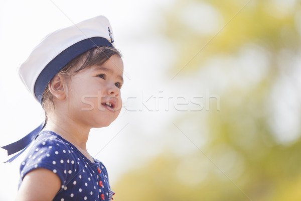 Little sailor girl Stock photo © boggy