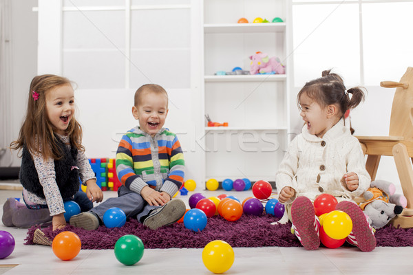 Kids playing in the room Stock photo © boggy