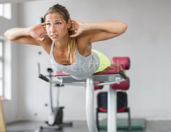 若い女性 訓練 ジム かなり 少女 スポーツ ストックフォト © boggy