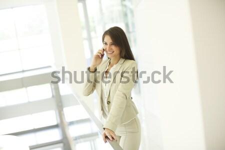 女性 ランジェリー 立って ルーム 肖像 若い女性 ストックフォト © boggy