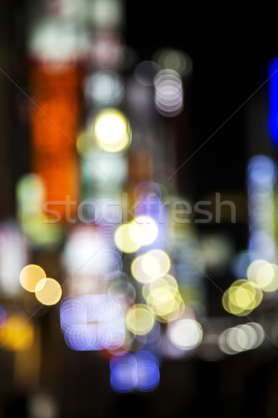 Defocused city lights inTokyo Stock photo © boggy