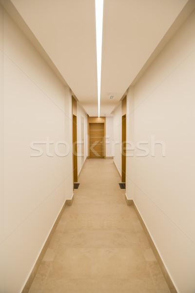 коридор современное здание строительство стены дизайна городского Сток-фото © boggy