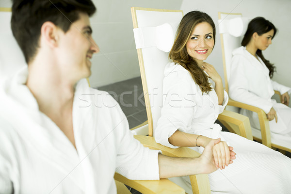 Couple in the spa Stock photo © boggy