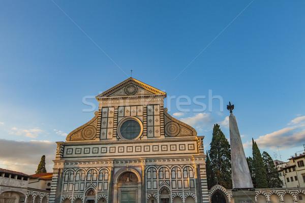 базилика Флоренция фасад Тоскана Италия Сток-фото © boggy