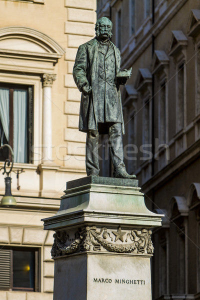 Marco Minghetti monument in Rome, Italy Stock photo © boggy