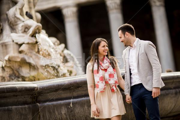любящий пару Рим Италия осмотр достопримечательностей путешествия Сток-фото © boggy