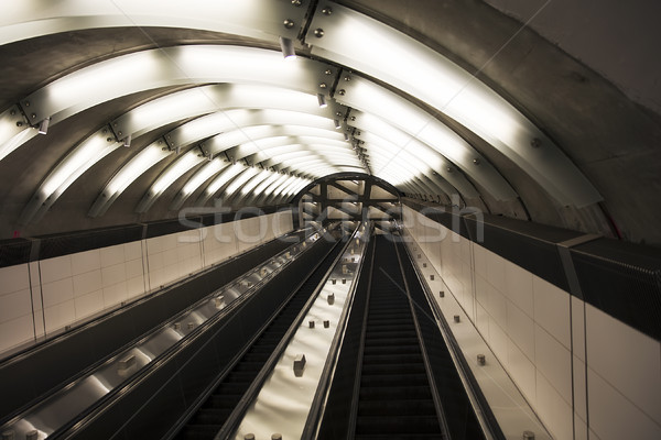Subway escalators Stock photo © boggy