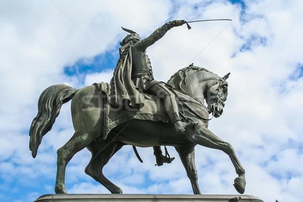 Ban Jelacic statue in Zagreb, Croatia Stock photo © boggy