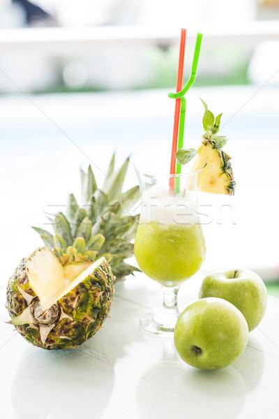 パイナップル リンゴジュース 表示 フルーツ ストックフォト © boggy