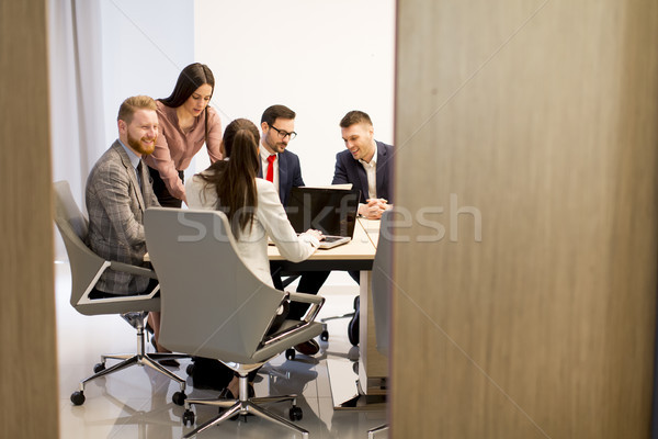 Group of buseness people who are seriously working on a new proj Stock photo © boggy