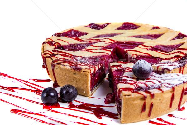 Sweet cherry tart Stock photo © boggy